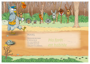 Couverture mois de mars; Ma forêt est habitée.