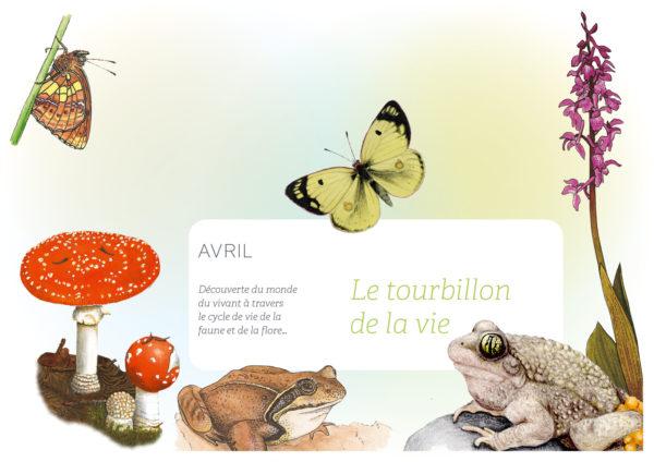 Couverture du mois d'avril: Le tourbillon de la vie